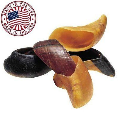 Natural Cow Hooves for Dogs (10 Pack) - Made in the USA Bulk Dog Dental Treat...