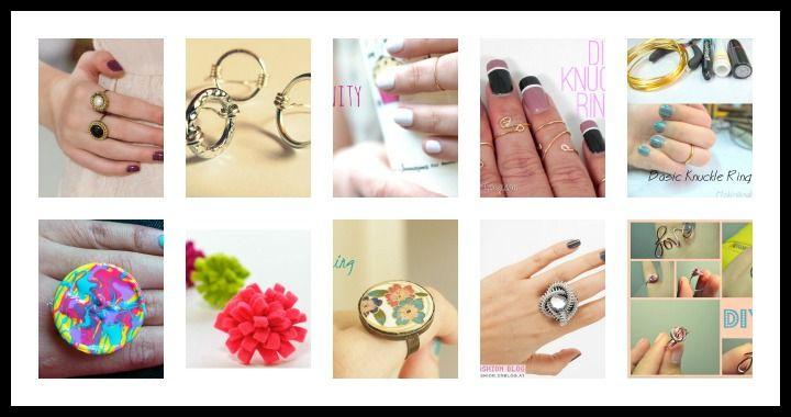 DIY Rings - 10 ways to