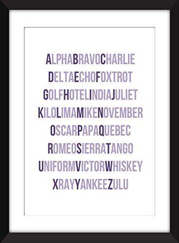 Phonetisches Alphabet Typografie Druck, A3 / A4 / A5 / 5 x 7 / 8 x 10 / 11 x 14 Druck, Geschenkidee für Luftfahrtfans / Alphabetwand Kunstdruck: Amazon.de: Handmade