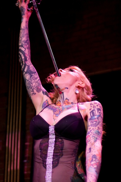 dating a sword swallower Heather holliday was the youngest sword swallower in the world when she first sideshow seduction: the rumpus interview with affected my dating.