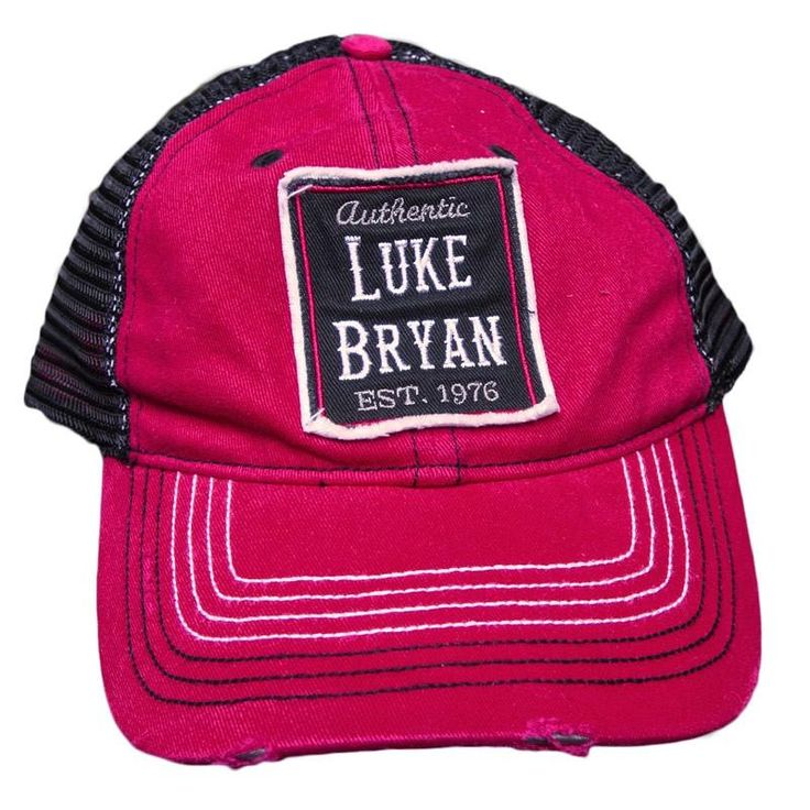 Luke Bryan Mesh Ball Cap - Apparel