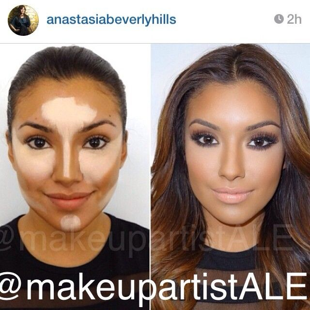 Can be done with banana powder, highlighting makes for good face contouring