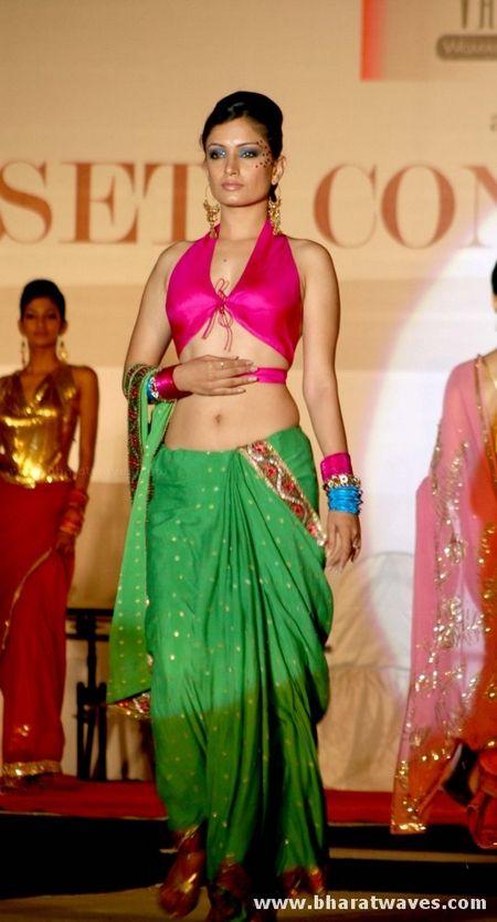 designer Vanita J fashion show saree blouse design designer saree