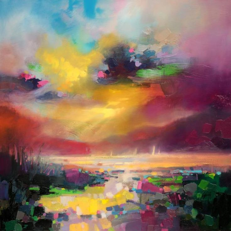 Dissonance Scottish abstract skyscape oil painting by Scott Naismith