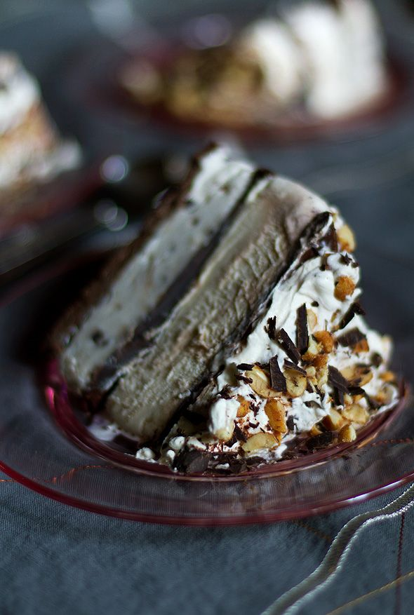 Tin Roof Ice Cream Cake - Chocolate, Peanuts, and peanut butter combined into one creamy cake