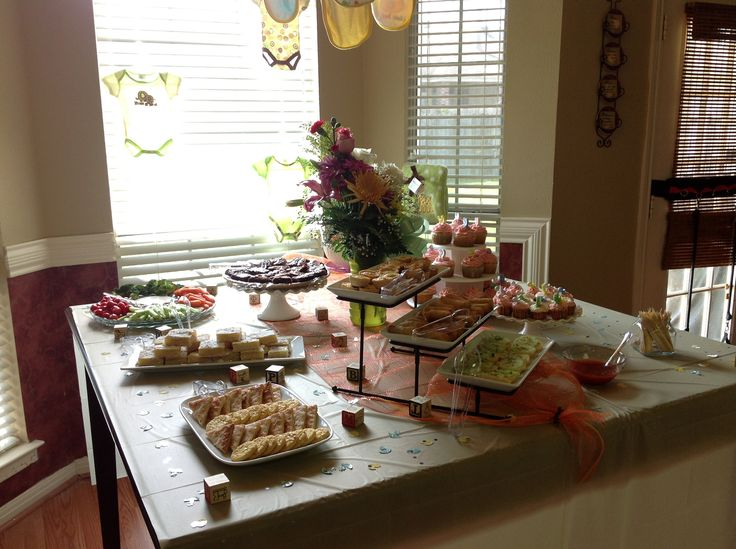baby shower food table set up baby shower food table setup step by