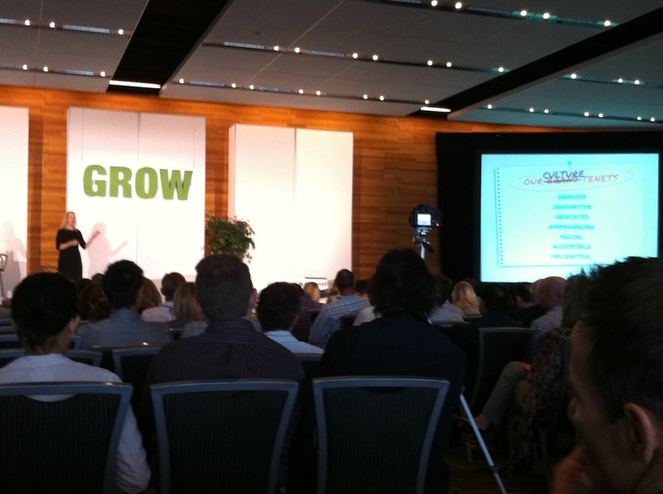 The Culture Economy-Julia Hartz, Co-Founder and President Eventbrite speaking at Grow2012