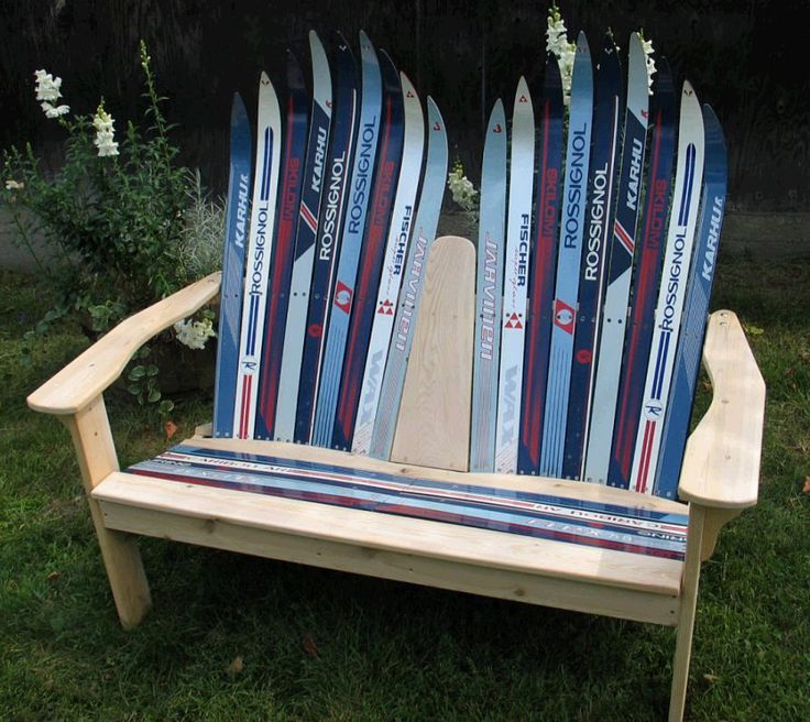 This ski lounger is upcycle sick!