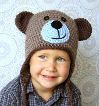 Crochet bear hat for kids (free crochet pattern) // Horgolt maci sapka gyerekeknek (ingyenes magyar horgolásminta) // Mindy - craft tutorial collection // #crafts #DIY #craftTutorial #tutorial #DIYClothesForKids