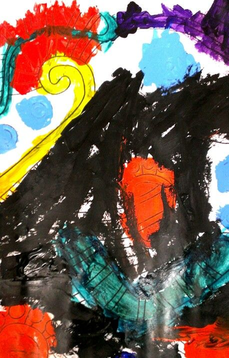 Twirly, Wirley, painting on paper