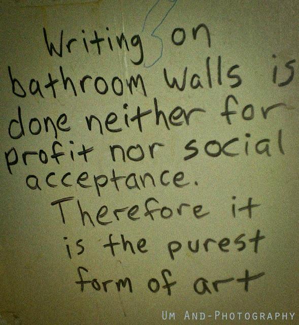 bathroom wall writing