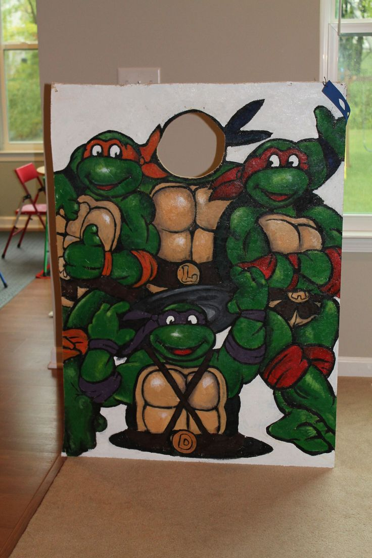 TMNT Party Teenage Mutant Ninja Turtle Party, Face Cut-out