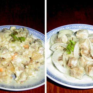 saláty z rybího filé a tresky
