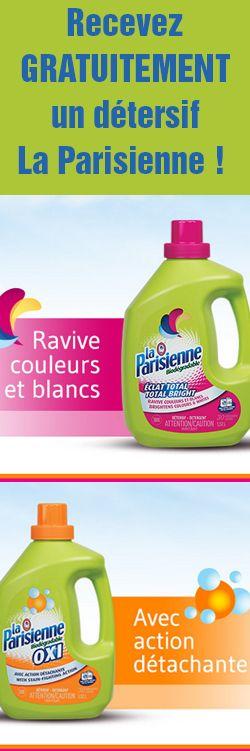 Obtenez un des nouveaux produits à valeur ajoutée La Parisienne gratuitement en recommandant le produit à vos amies. http://rienquedugratuit.ca/echantillon-gratuit/detersifs-la-parisienne/