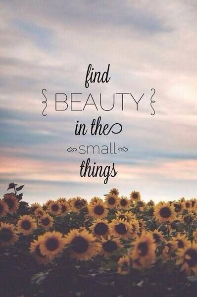 God gave us a lot of small things to enjoy!