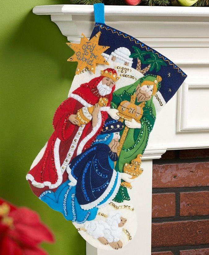 Three Wise Men Bucilla Christmas Stocking Kits