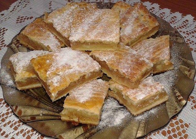 Olasz almás pite - KAVART TÉSZTA: 25 dkg liszt, 10 dkg puha vaj, 2 tk sütőpor vagy szódabikarbóna, csipet só, 15 dkg cukor, 2 tojás, 1 citrom reszelt héja, 1 tk vanília, 75 ml tej. TÖLTELÉK: 4 db alma szeletelve, 1 ek barna cukor, 1 tk őrölt fahéj.