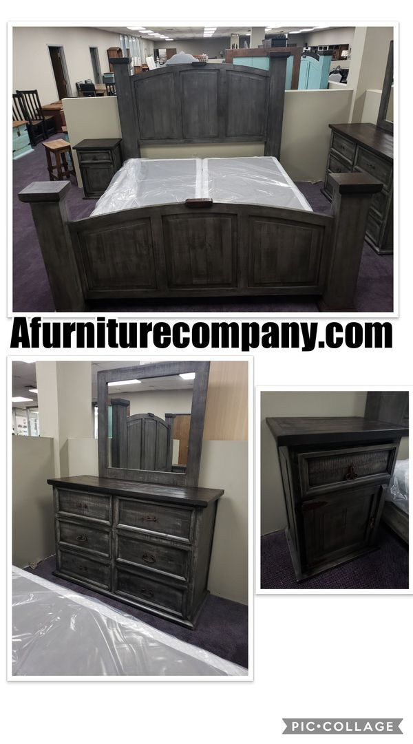 4 pc Queen or king bedroom set we deliver and we set up $1299 for - Used Bedroom Sets