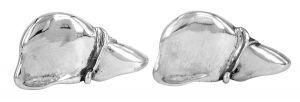 Liver cufflinks in sterling silver - $260