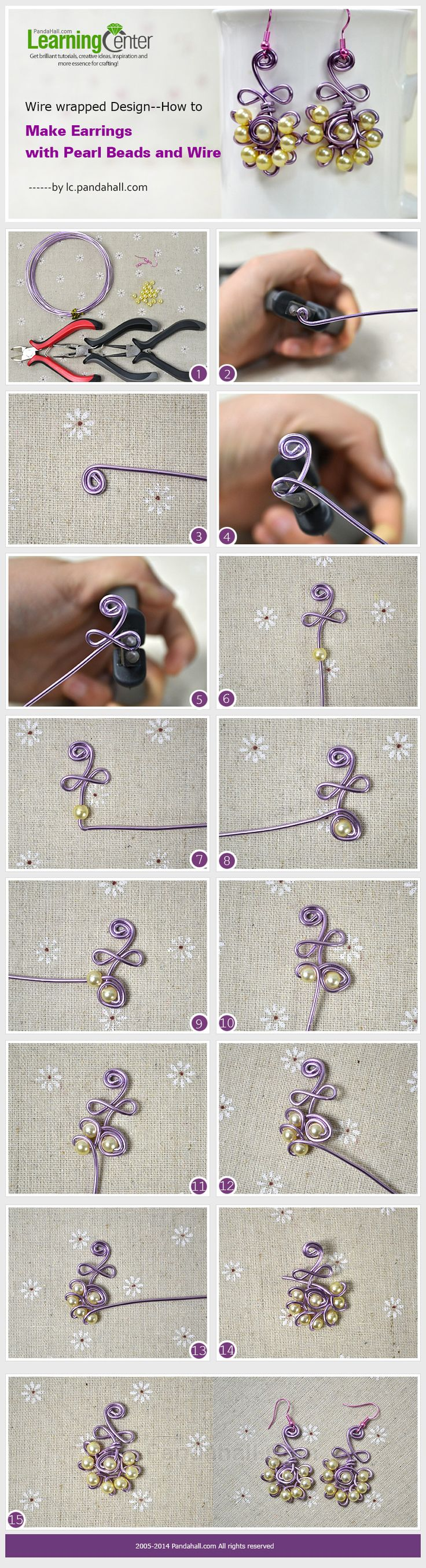 How to Make Earrings with Pearl Beads and Wire?Click the Photo for More Information