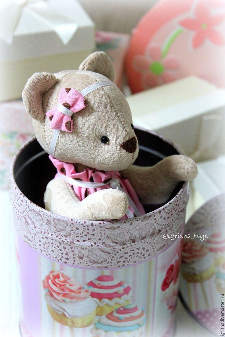 Купить Мишка и Зайка Горошинки - розовый, мишка, игрушка, медвежонок, подарок, подарок девочке