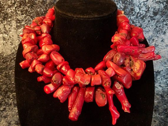 Hey, I found this really awesome Etsy listing at https://www.etsy.com/listing/546431666/vintage-red-branch-coral-statement