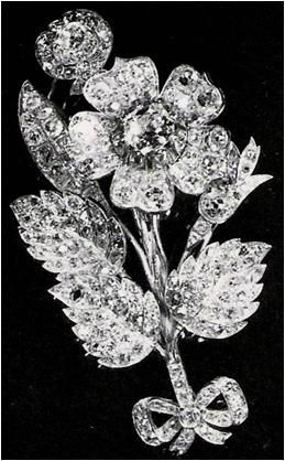 From Her Majesty's Jewel Vault: The Vanguard Rose Brooch-given to then Princess Elizabeth when she launched the ship HMS Vanguard