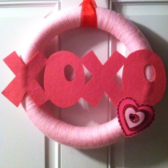 My Valentines Day wreath!