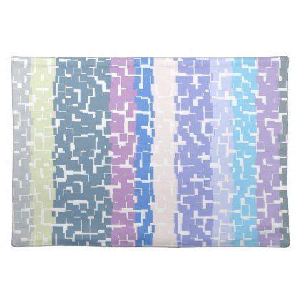 Multicolor Green/Grey/Beige/Pink/Purple/Blue Placemat - chic design idea diy elegant beautiful stylish modern exclusive trendy