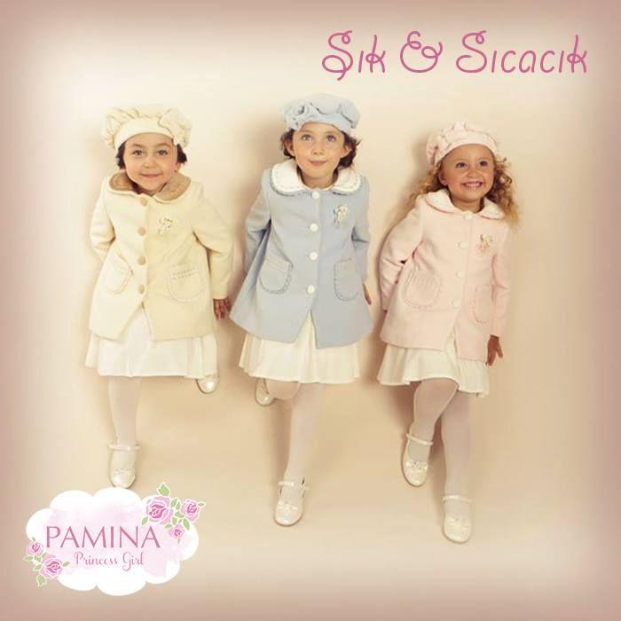 Pamina kışlıkları hem sıcacık, hem de şık! smile ifade simgesi Winter clothes of Pamina are warm and so chic! #FashionKids #Princessgirl #PaminaKids #Moda #sweet #Winter