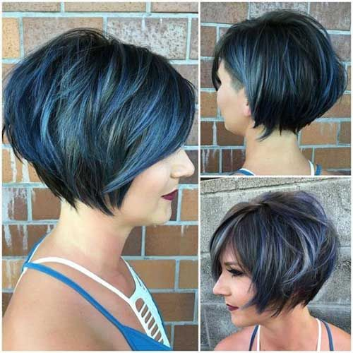 Short Stacked Hairstyles stacked bob fine hair inverted stacked bob short stacked haircutsinverted Short Stacked Haircuts 8