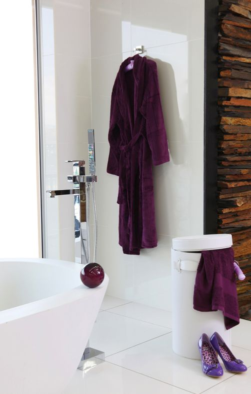 #Purple is perfect as an accent colour for the bathroom as it creates a calming, happy atmosphere