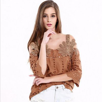 Now available on our store: Women Blouses Sum... Check it out here! http://lestyleparfait.co.ke/products/women-blouses-summer-exquisite-embroidery-women-tops-khaki?utm_campaign=social_autopilot&utm_source=pin&utm_medium=pin #onlineshoppingkenya #fashionkenya #stylekenya