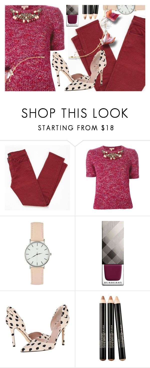 """Fall Outfit"" by ana3blue on Polyvore featuring The Kooples, P.A.R.O.S.H., Burberry, Kate Spade and Smashbox"