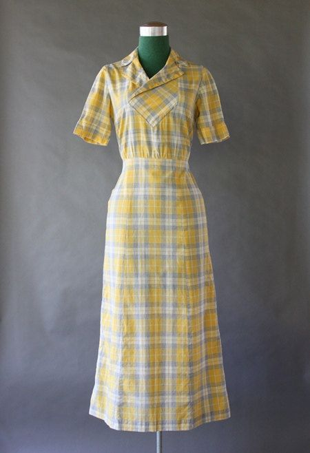 30's Cotton dust bowl dress.