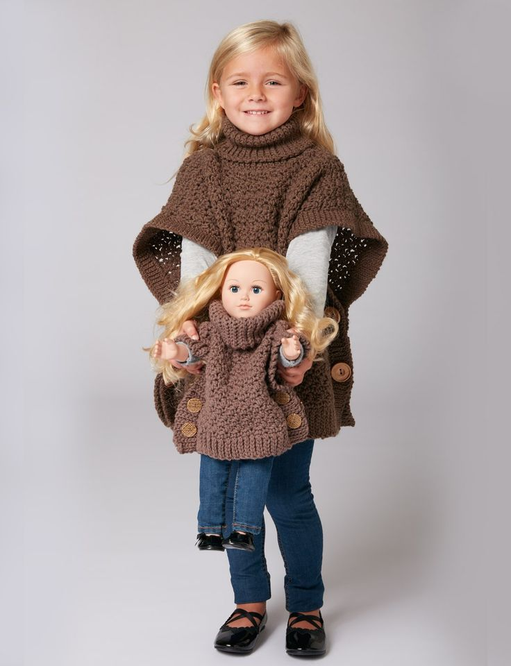 Yarnspirations.com - Bernat Poncho For You And Me  - Patterns  | Yarnspirations