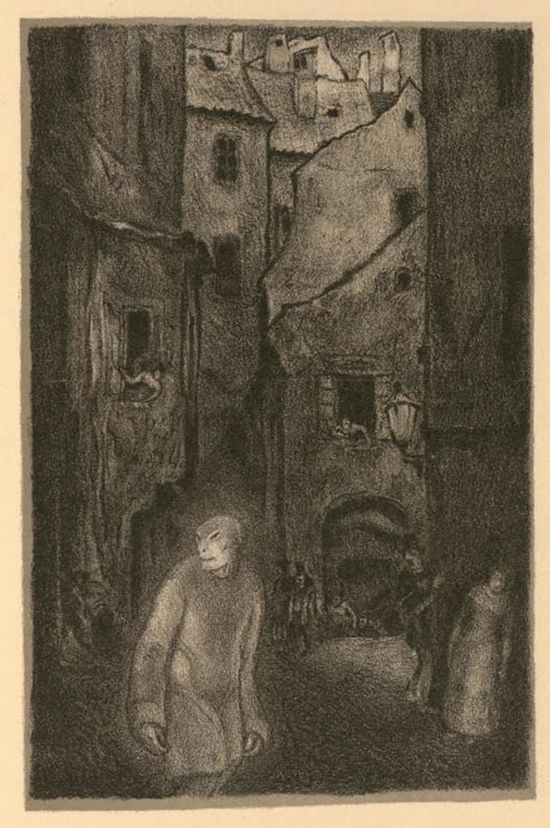 Hugo Steiner-Prag's 1916 illustrations for Gustav Meyrink's Der Golem.