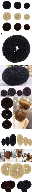 Bluelans Women Magic Blonde Donut Hair Ring Bun Former Shaper Hair Styler Maker Tool Hair Accessories