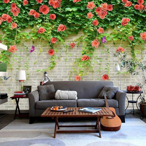 3D壁纸 卧室 温馨书房客厅 无纺布墙纸 电视背景墙 玄关大型壁画。