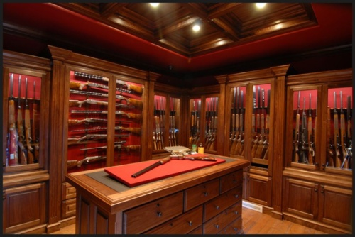 Gun room custom home ideas pinterest walks caves for Walk in gun vault room