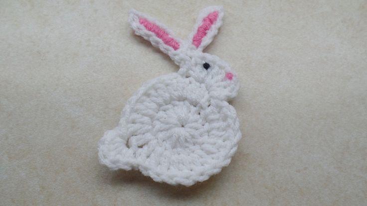 CROCHET How to #Crochet Easy Bunny Rabbit Applique Easter #TUTORIAL #206...