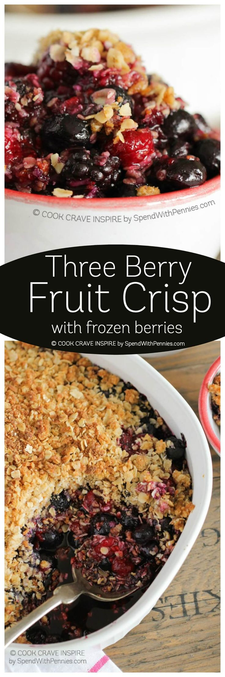 Mixed Berry Crisp is deliciously easy! With an extra dose of crumble topping and a hint of lemon zest, this is one of my most requested dessert recipes!