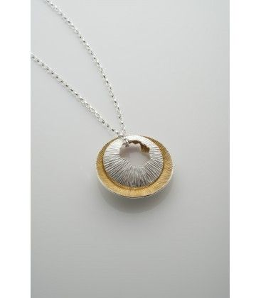 Double Shell Pendant - Sterling Silver & 22ct Gold.