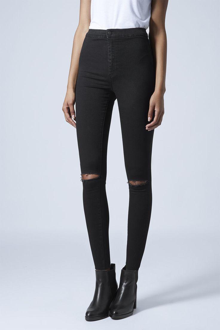Photo 2 of MOTO Black Ripped Joni Jeans