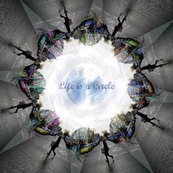"""""""Life is a Circle"""" from my project """"Alternative Snapshots of Our World"""" (London)"""