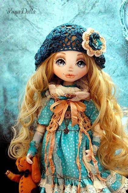 Текстильная кукла ручной работы. Автор Яна Тараненко. Блог:http://yanadolls.blogspot.com/