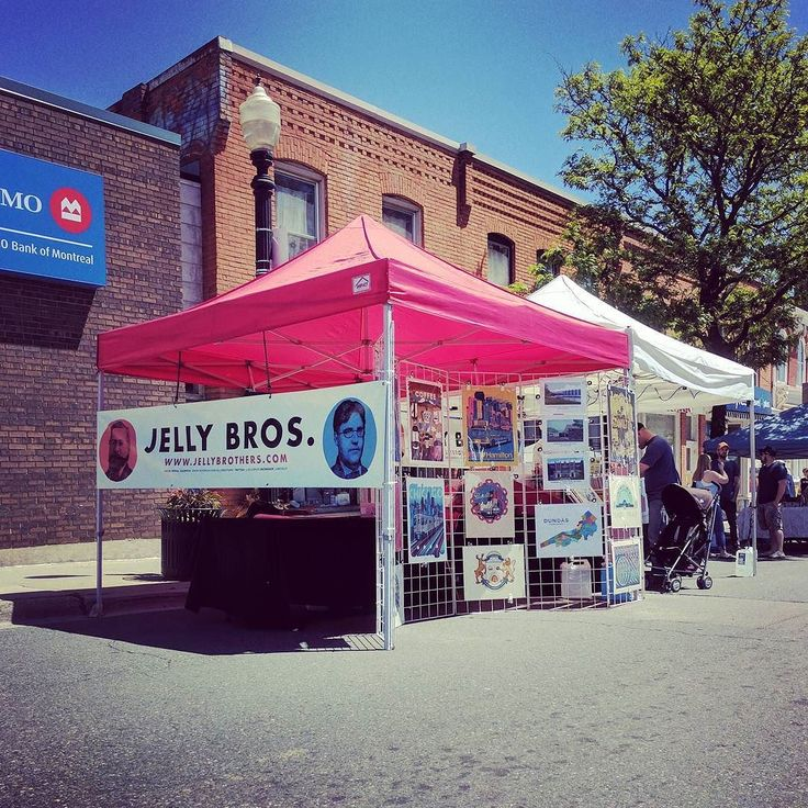 Our @jellybros tents are all set up at Dundas Buskerfest - we're here til 10pm tonight 11:30-6 Sunday. #HamOnt