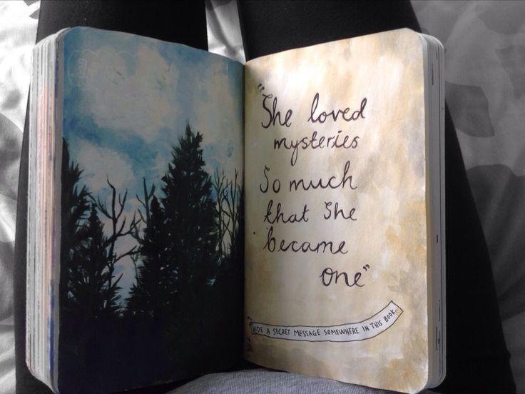Esconda uma mensagem secreta em algum lugar deste livro. Destrua Este Diário.
