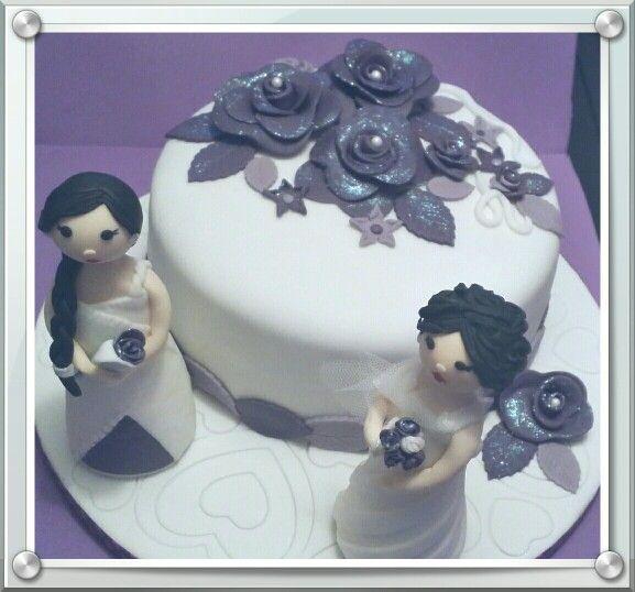 Pastel fondant novias
