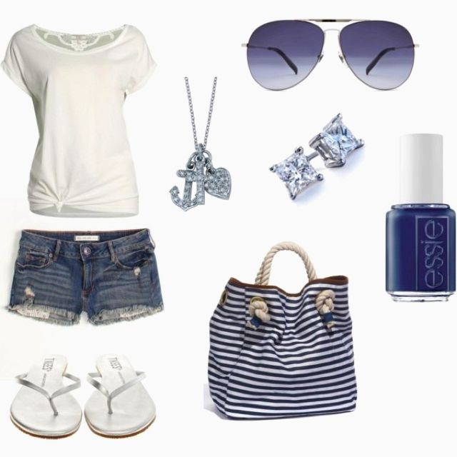 Cute, with a nautical theme!! (longer shorts of course!)